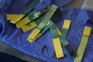 PH Sticks after testing to make sure levels were accurate.