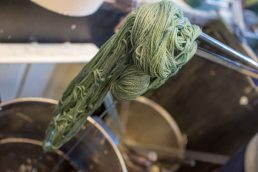 Indigo just out of the dye vat.