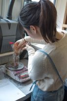 Measuring madder extract.