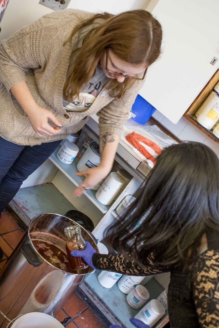 EMPP Team Member Joanna working with a participant.