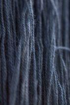 Indigo-dyed wool.